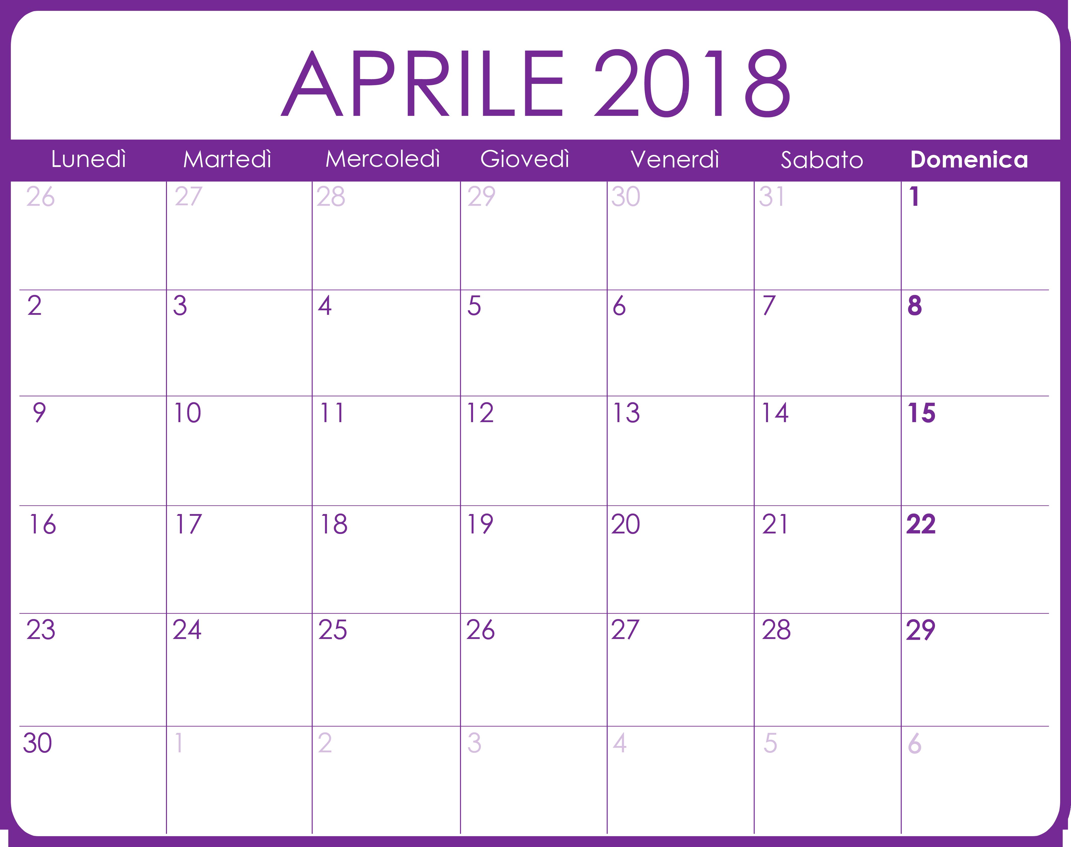 Calendario Aprile 2020 Con Santi.Calendario Aprile 2018 Calendario Dicembre Calendario E