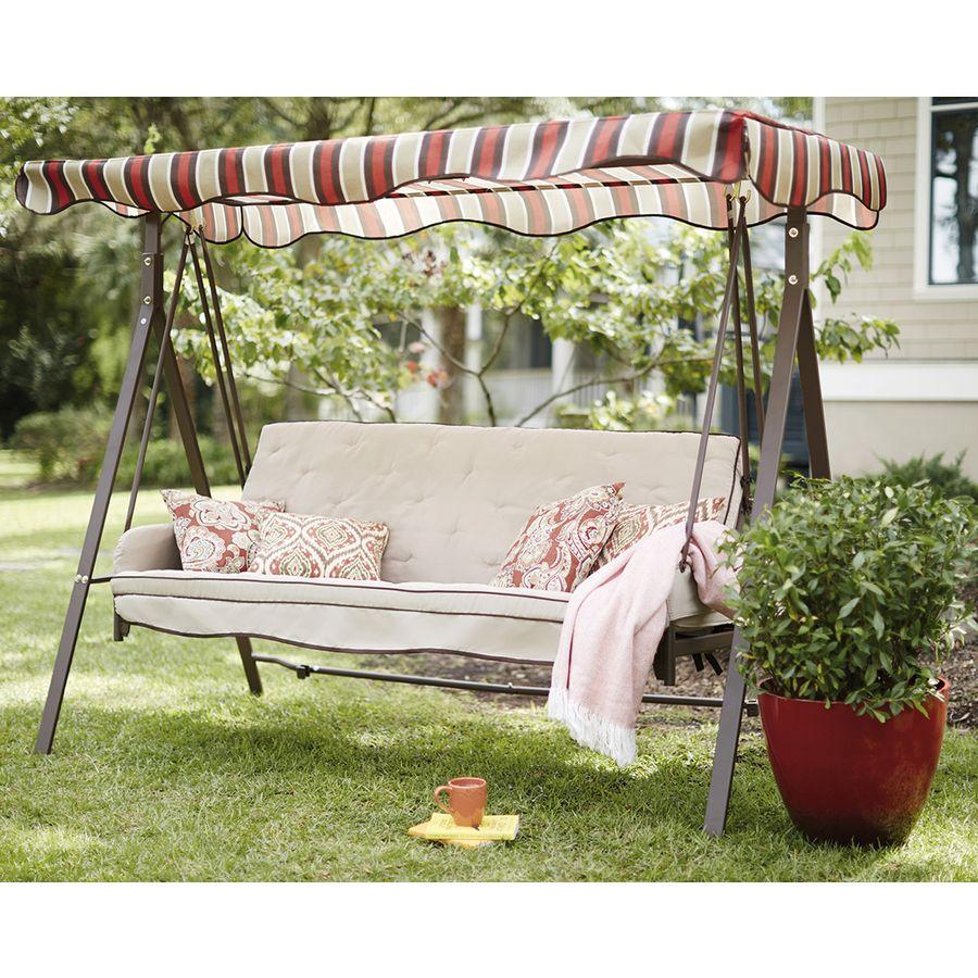 $198 Shop Garden Treasures Porch Swing at Lowes.com | Garden/Patio ...
