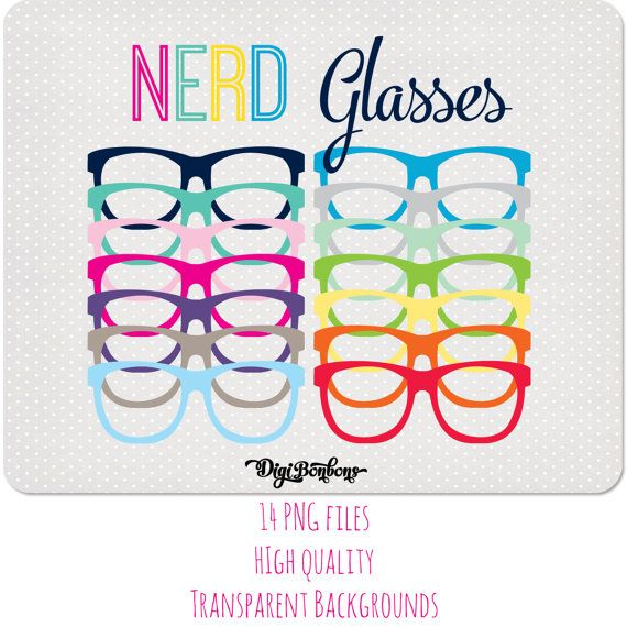 Back To School Clipart Nerd Glasses Commercial Use Included Etsy Clip Art Nerd Glasses Back To School Clipart