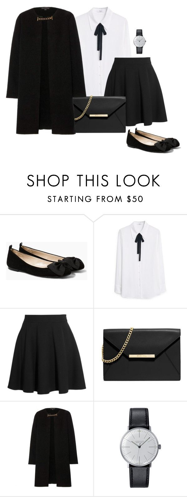 """Outfit Of The Day"" by anischasanah ❤ liked on Polyvore featuring MANGO, Miu Miu, MICHAEL Michael Kors, Burberry and Klein & more"