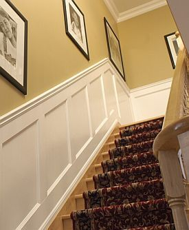 Wainscoting Idea For Hallway And Up The Stairs