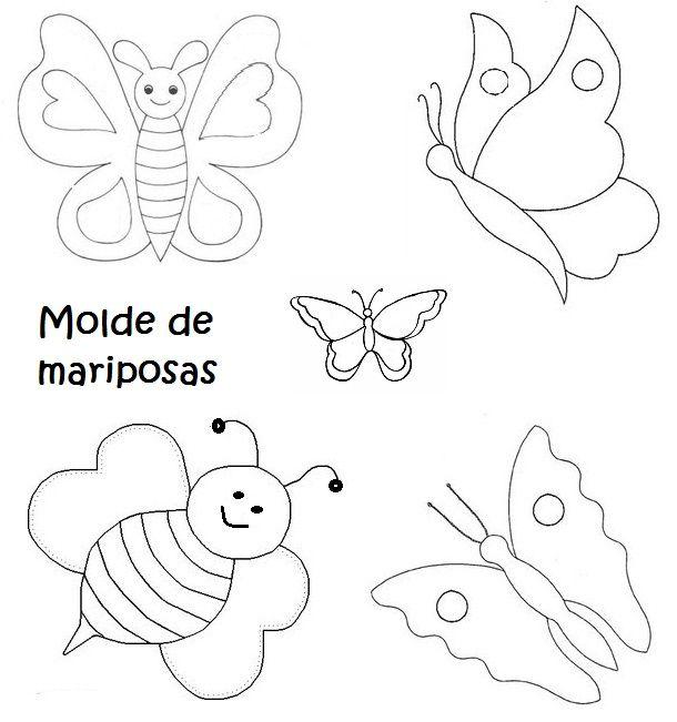 Moldes de figuras en foami mariposas - Imagui
