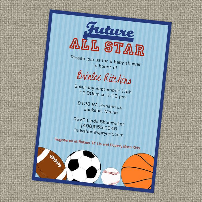sports all star baby shower for baby boy www.etsy.com/shop ...