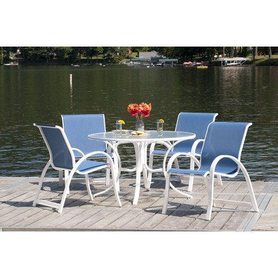 Telescope Casual Aruba Ii Sling Dining Set Review Round Patio Table Patio Dining Table Patio Dining Set