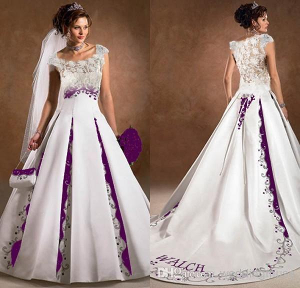Purple black and white wedding pinterest dresses