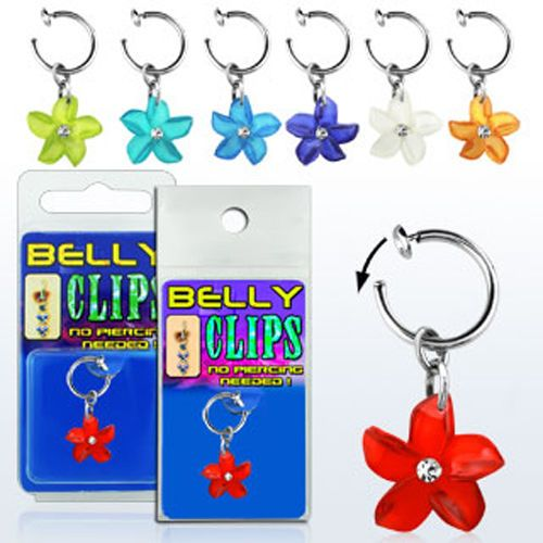 Details About 1-4PC Fake Belly Button Clip On Jewelry No