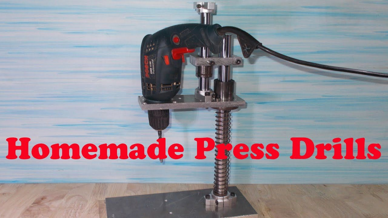 Homemade Mini Press Drill Diy Tools Home Built Circuit B Convert Inverter Welding Pcb Board Cutting Machine Industry Lathe H