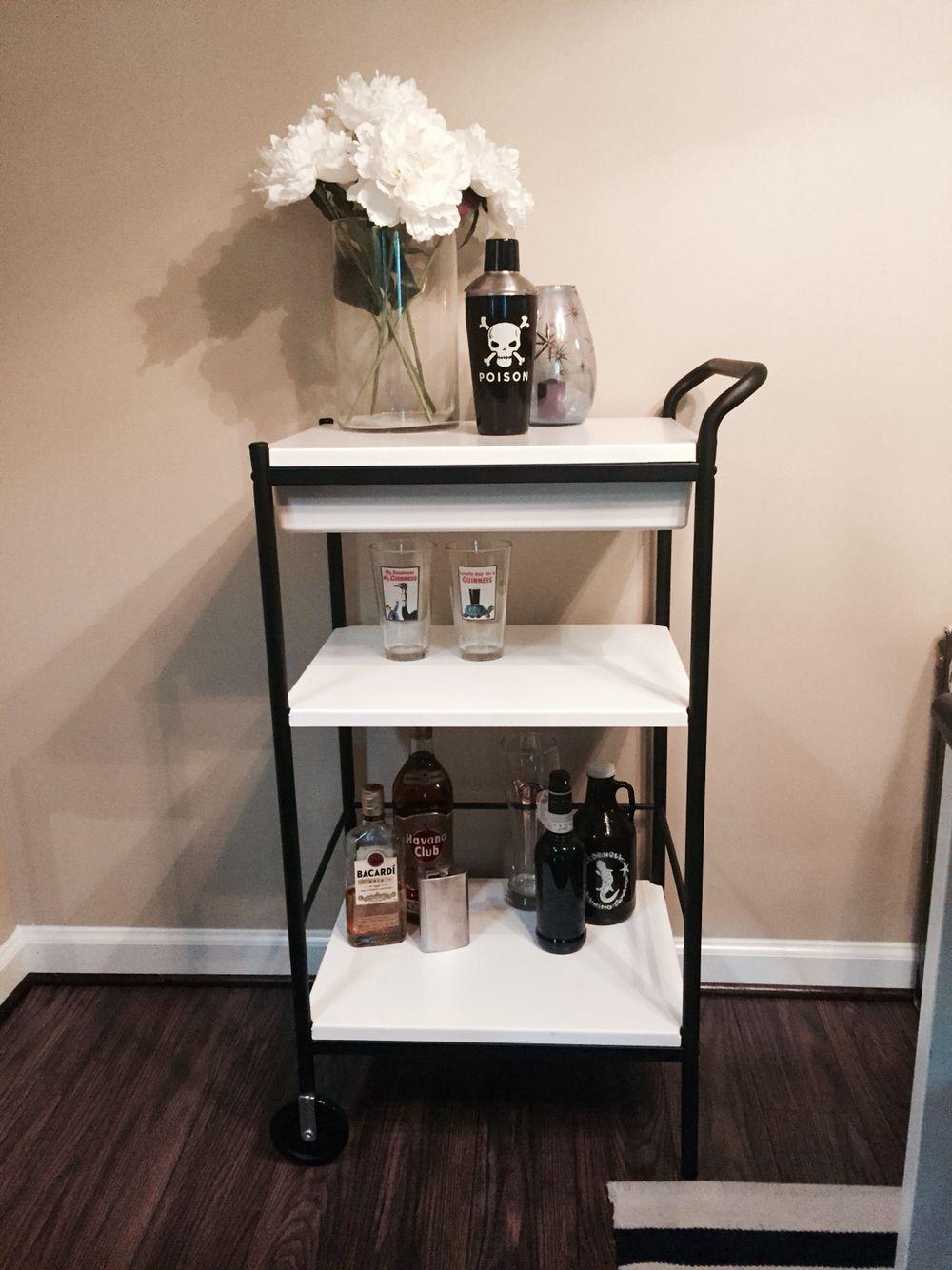 Bygel IKEA matte black bar cart hack   Room design   Pinterest ...