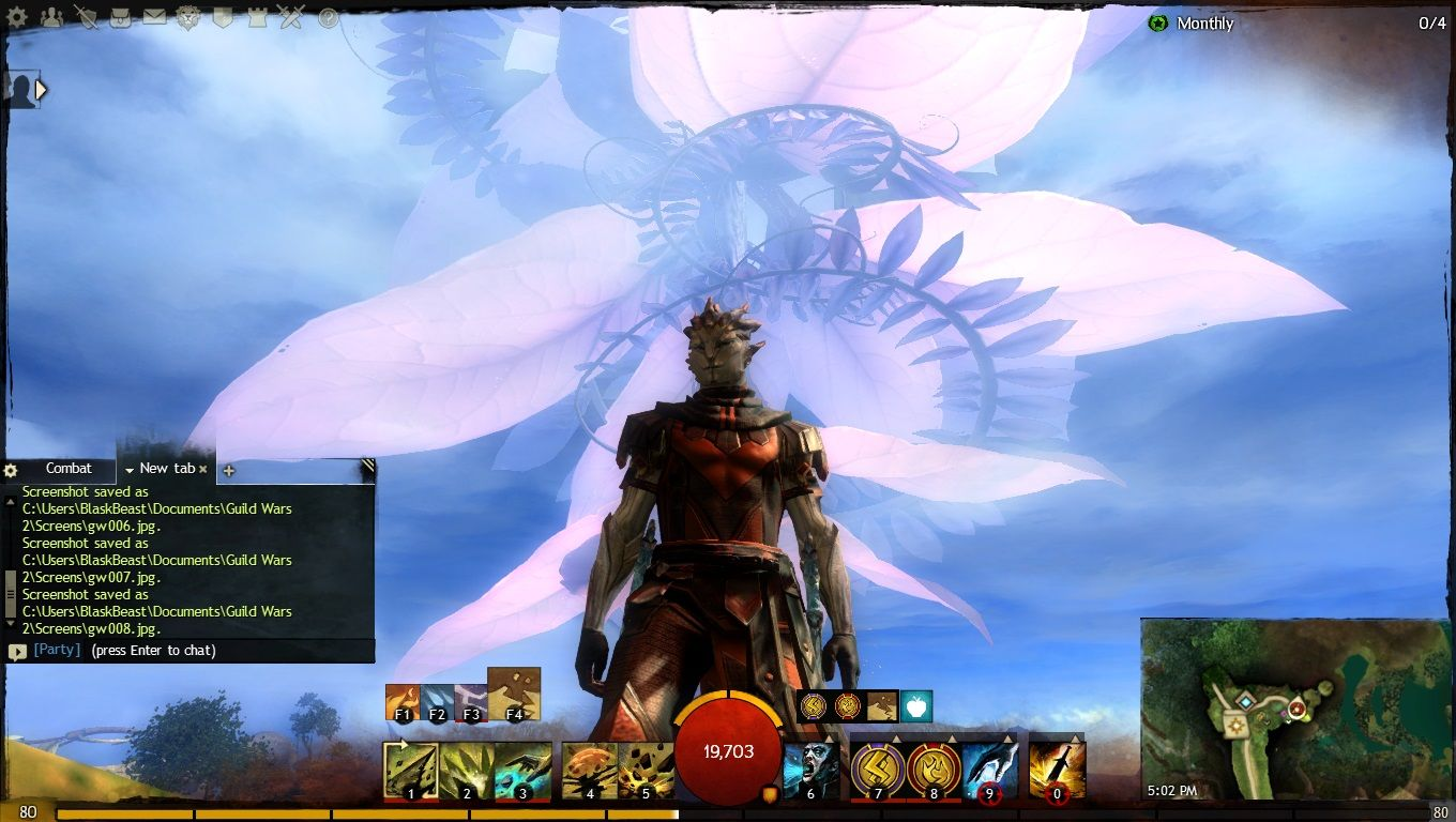 This is a screen shot of my Sylvari Elementalist from GW2