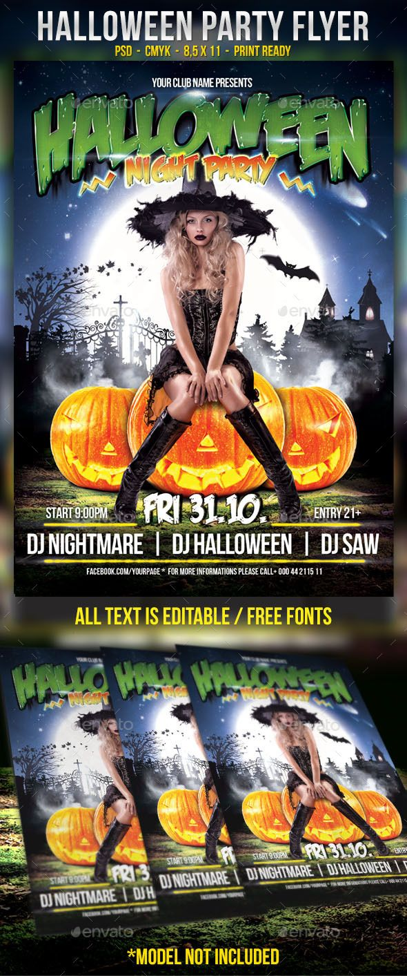 pin by best graphic design on halloween flyer templates pinterest