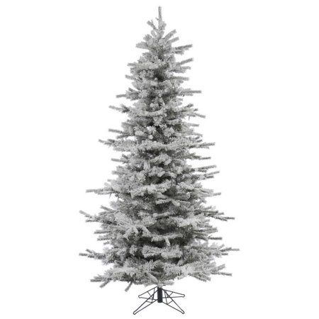 Vickerman 10\u0027 Flocked Sierra Fir Slim Artificial Christmas Tree