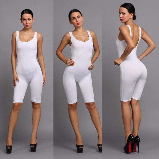 c357a2ba2034 Hot Basic Women Bodysuits Cotton Women Rompers One Pieces Bodycon Jumpsuits  Overalls Skinny Jumpsuit