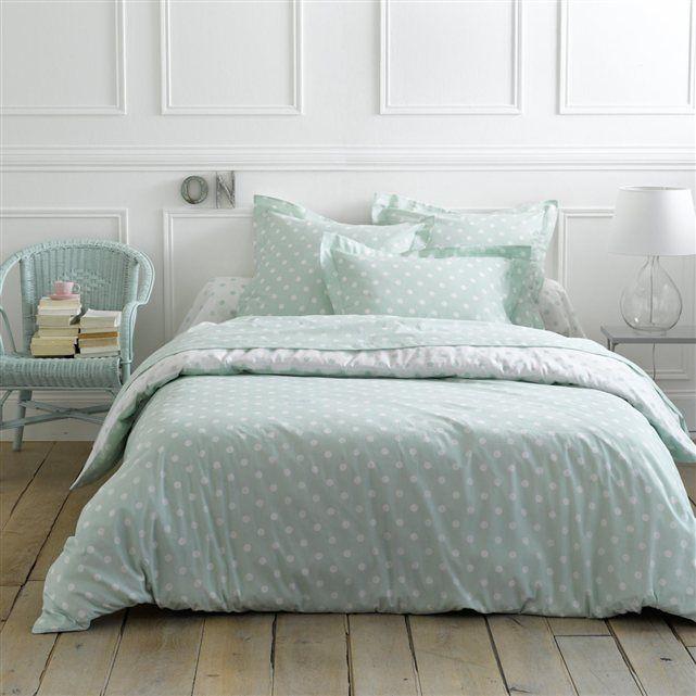 housse de couette imprim e pois clarisse faites de beaux. Black Bedroom Furniture Sets. Home Design Ideas