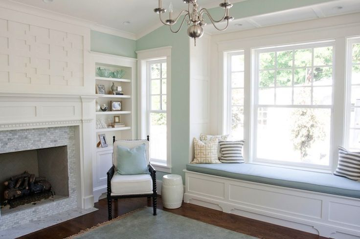 Love This Window Seat Palladian Blue Home Living Room Home #palladian #blue #living #room