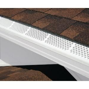 Amerimax Home Products 3 Ft White Snap In Filter Gutter Guard 86770 The Home Depot Gutter Guard Gutters Downspout