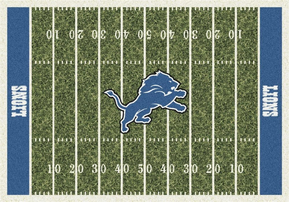 Detroit Lions Football Field Rug