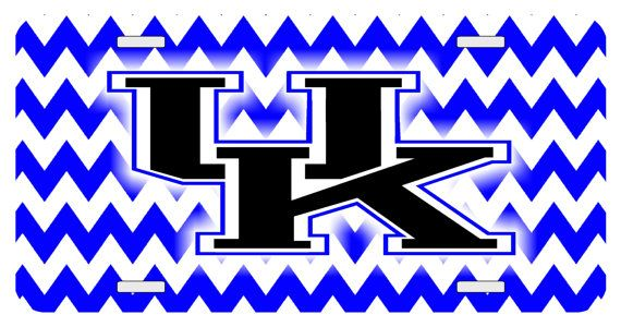 Personalized License Plate Chevron UK, Kentucky, Monogrammed License ...
