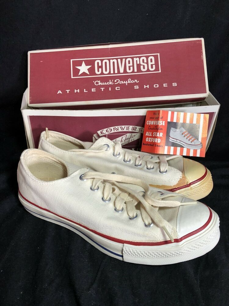 849778001f05 Vintage Chuck Taylor Converse All Star Deadstock Shoes Sz 7 Low Top Sneaker  50s  Converse  Athletic