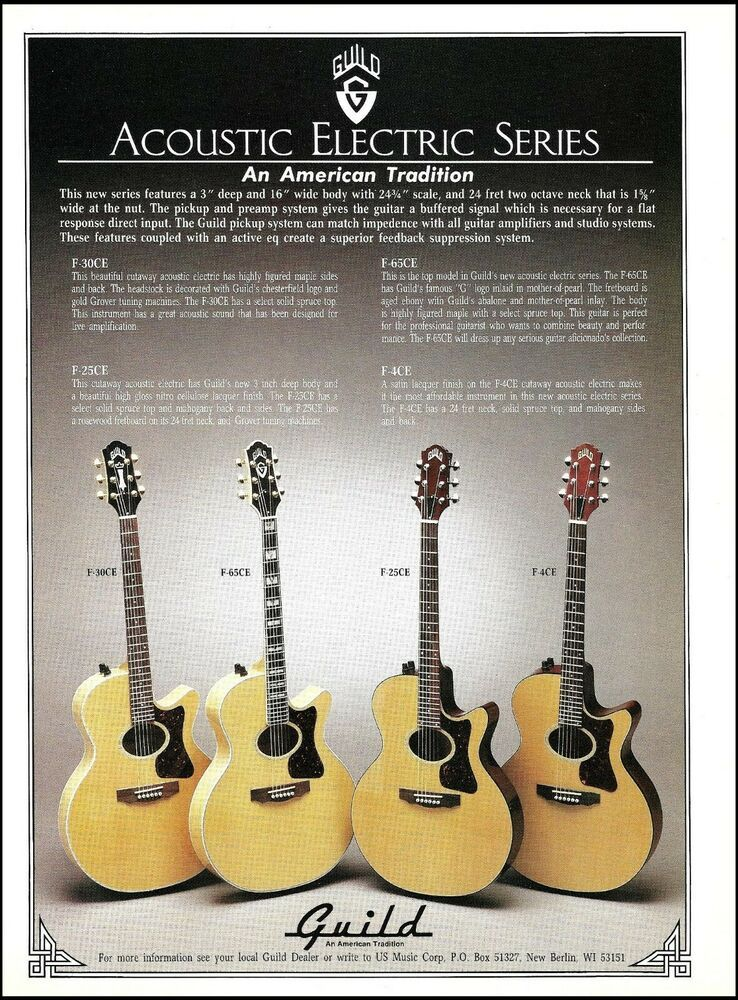 1999 Guild F 47ce F 5ce Acoustic Electric Series Guitar Ad 8 X 11 Print Ebay Acoustic Electric Guitar Acoustic