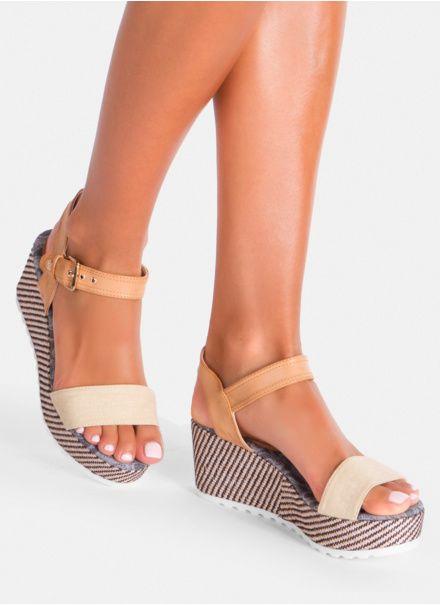 Bezowe Sandaly Na Koturnie Birdy W Sklepie Deezee Pl Espadrilles Shoes Wedges
