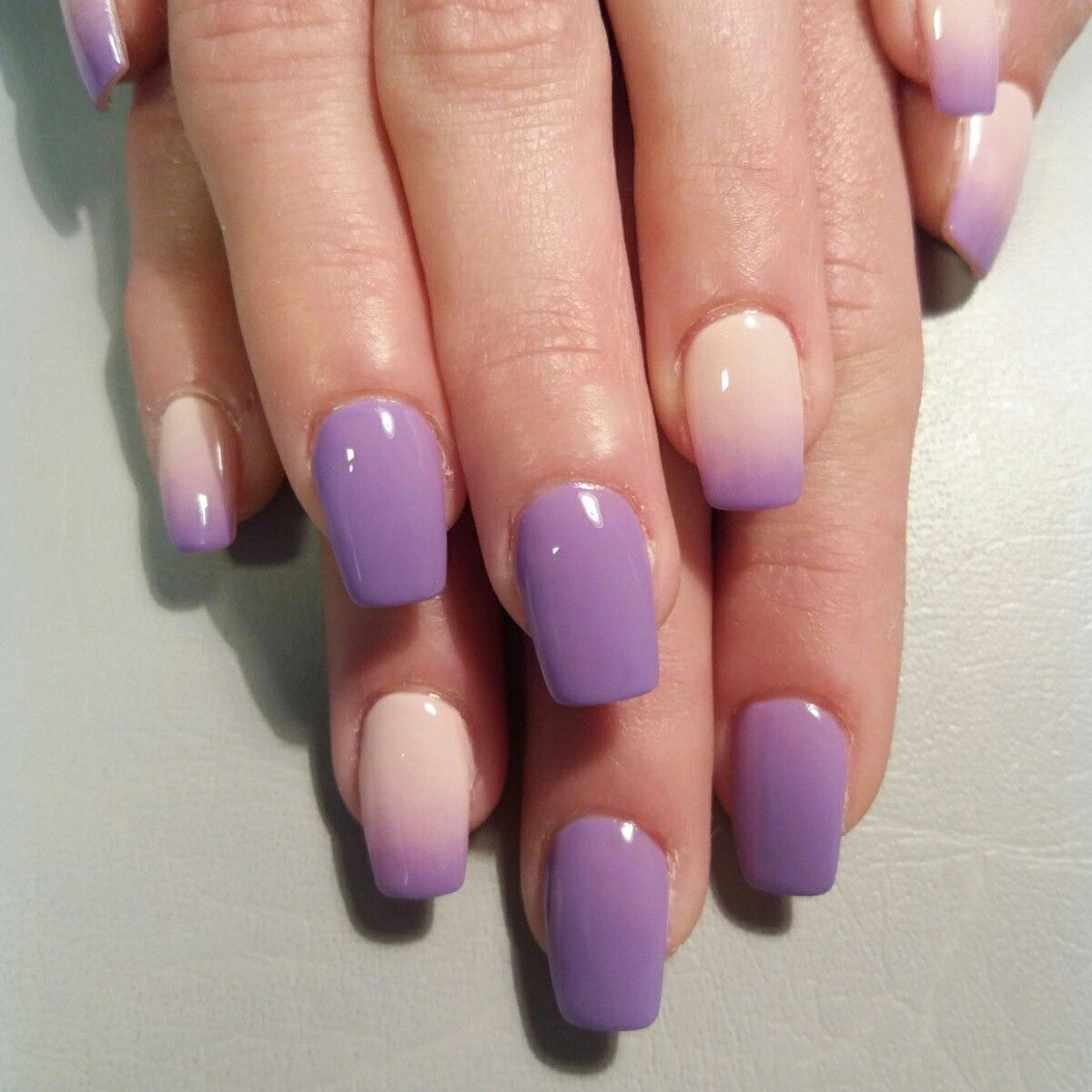 Purple Ombre Gel Nails Perfect For Summer Purple Nail Designs Purple Nails Summer Gel Nails