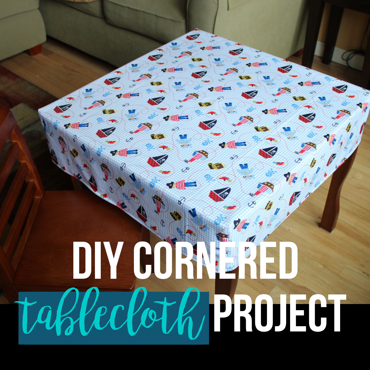 Diy Cornered Tablecloth Tutorial Easy One Hour Project Fitted
