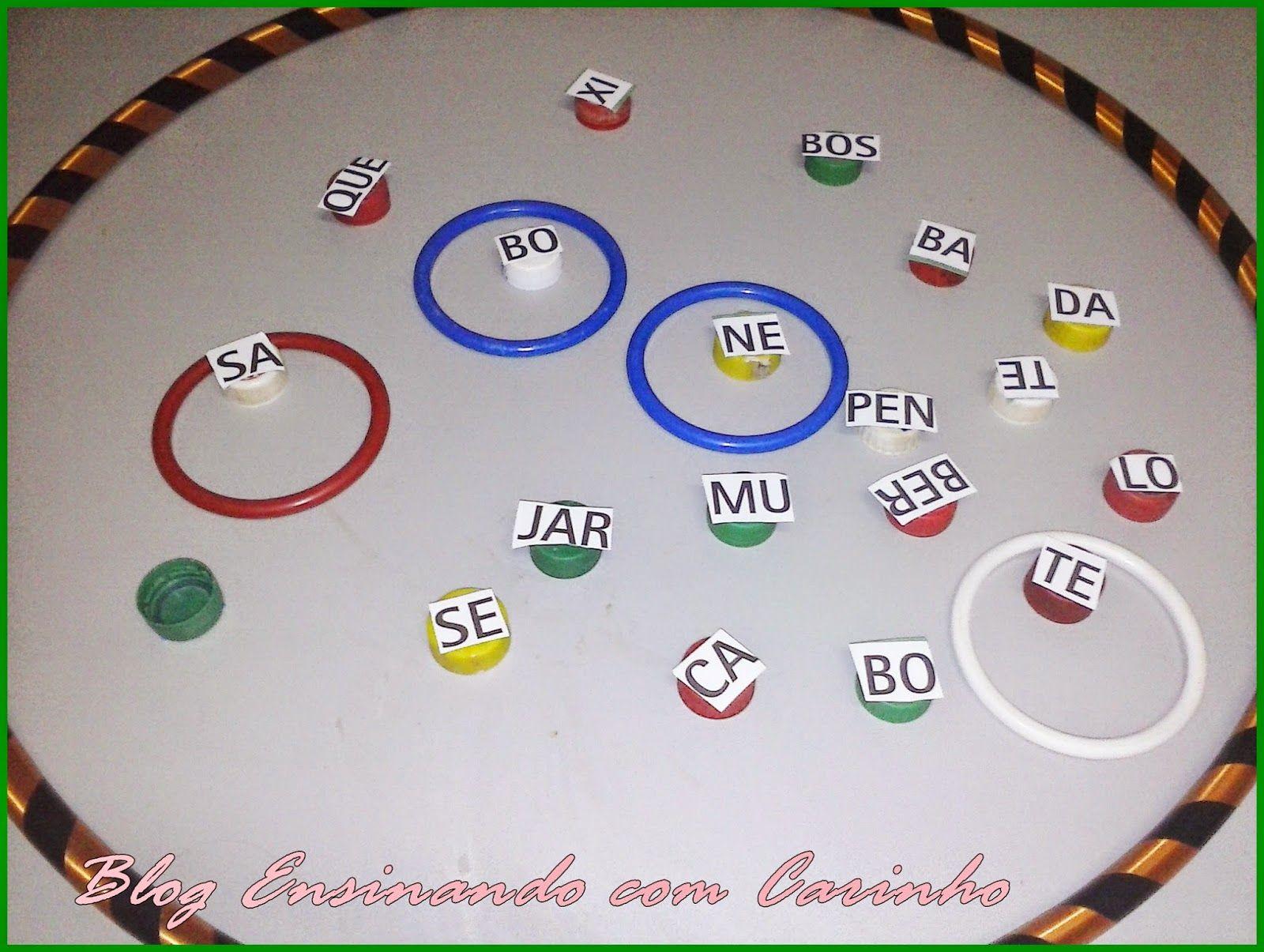 Jogo De Silabas Com Tampinhas Com Imagens Jogos Educativos De