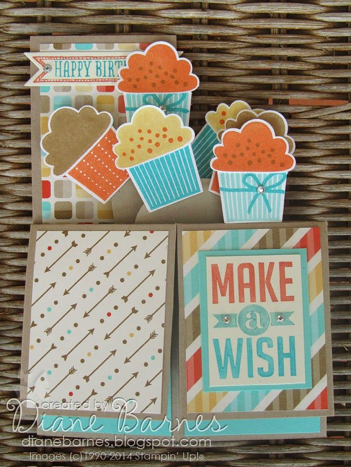 Stampin up create a cupcake pop up card in a box template by di stampin up create a cupcake pop up card in a box template by di barnes pronofoot35fo Choice Image