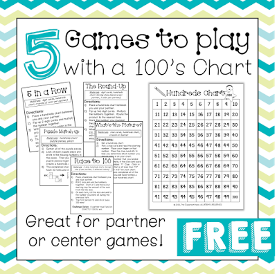 Games To Play With A Hundreds Chart  Math Chart And Plays
