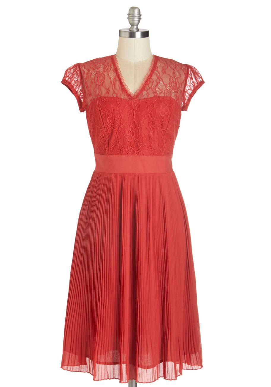 One Moment Pleats Midi Dress Mod Cloth Dresses Dresses Vintage Dresses