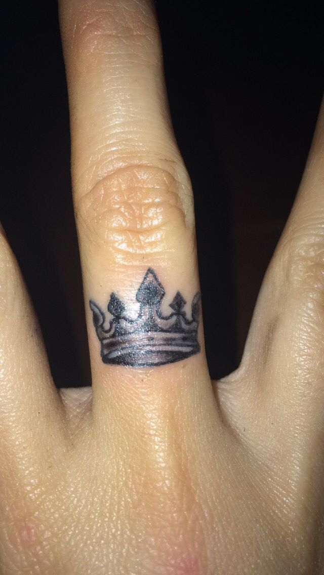 A Crown On My Middle Right Finger God Is The Highest King There