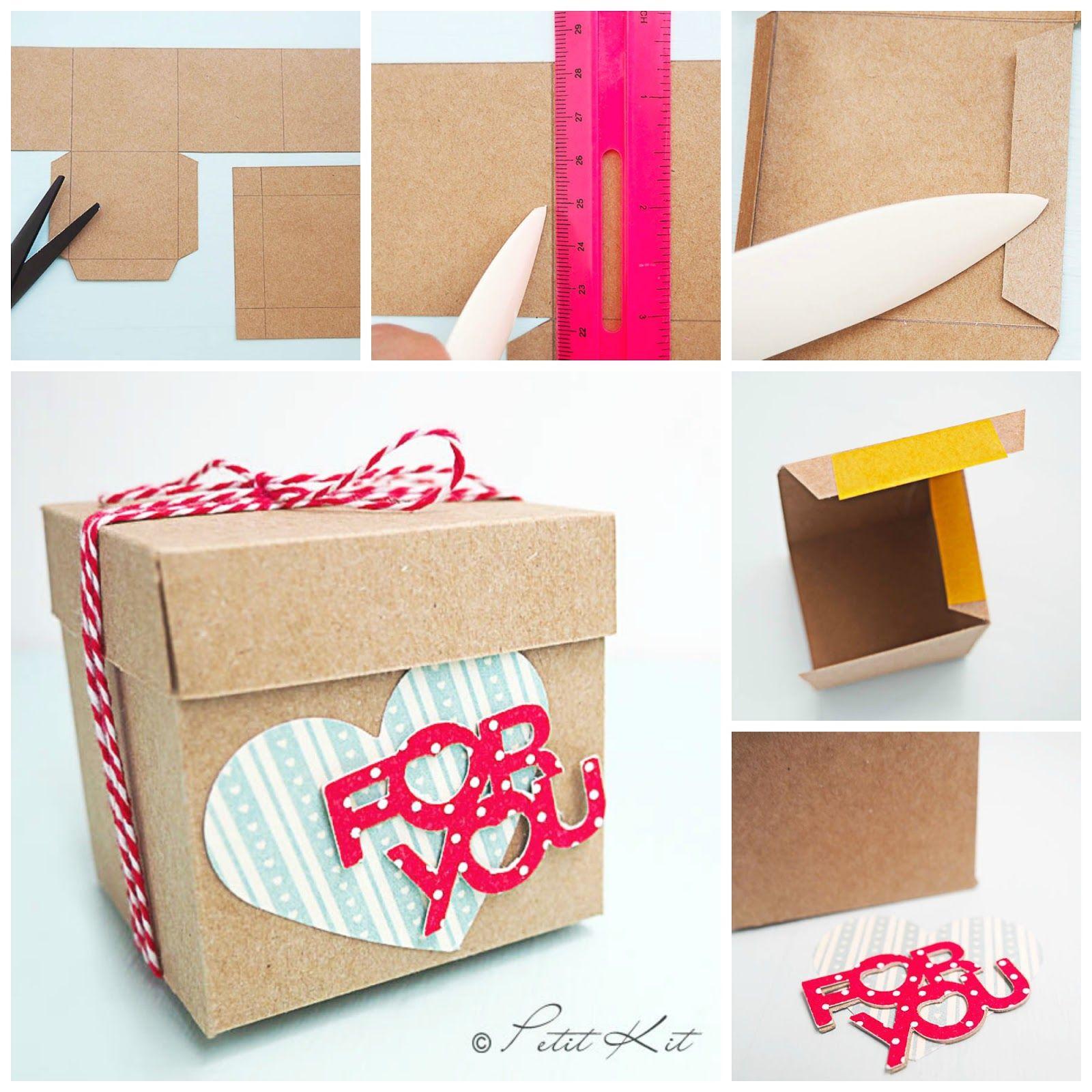 Diy Caja Con Tapa Hacer Cajas De Regalo Como Hacer Cajas Sorpresa Hacer Cajitas De Carton
