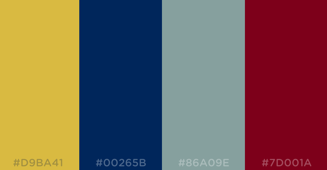 Gold Dark Royal Blue Slate Grey Burgundy Color Colour Palette Rainbow