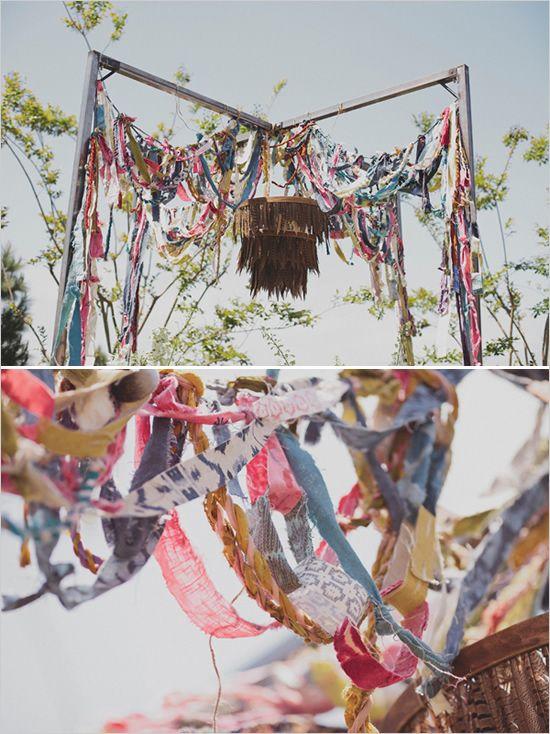 Woodsy Boho Chic Backyard Wedding   Decor & Details For ...