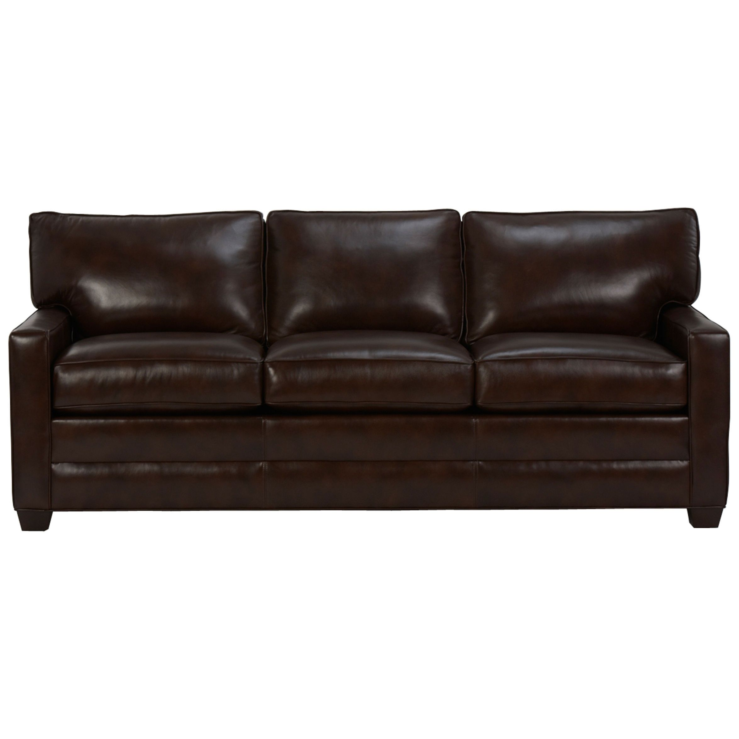 Bennett Three Cushion Track Arm Leather Sofas Ethan Allen Us Straight Arm Version Available In Fabric Leather Sofa Sofa Living Room Sofa