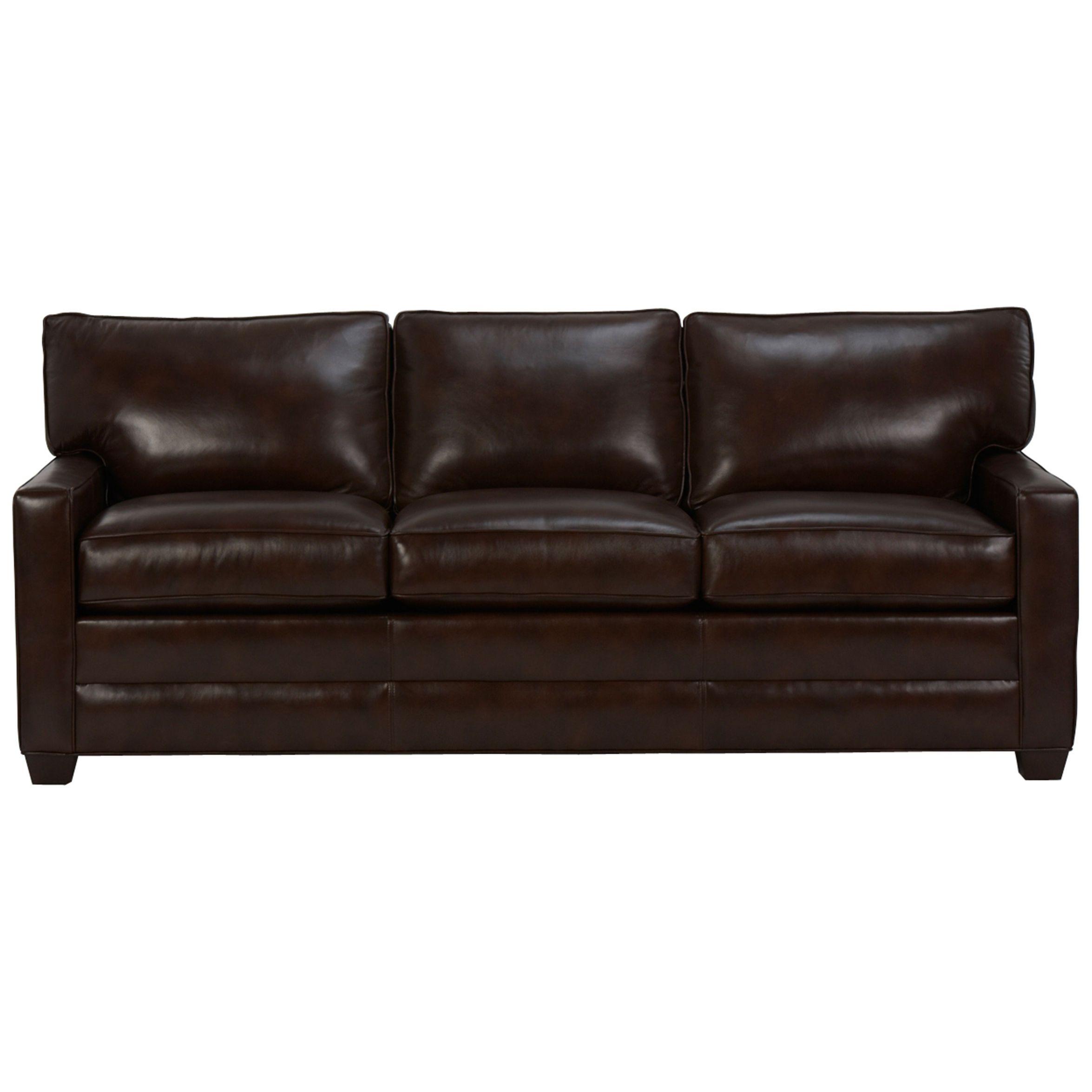 Bennett Three Cushion Track Arm Leather Sofas Ethan Allen Us