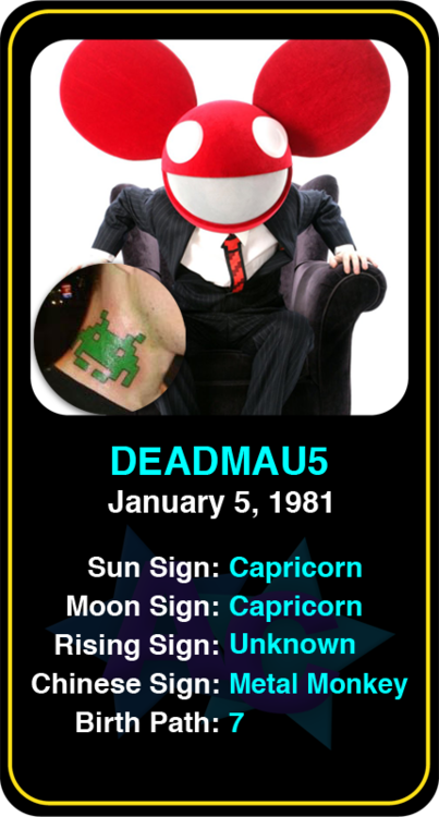 Best & Worst Celebrity Tattoos: Deadmau5 See more here: https://www.astroconnects.com/galleries/celeb-featured-galleries/celeb-tattoo-gallery #astrology #celebrity #tattoos #deadmau5