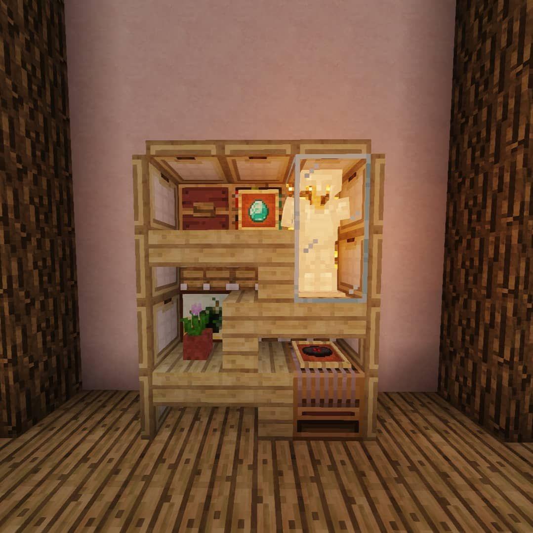 Shelf design! Love those 'u' Shade Minecraft houses