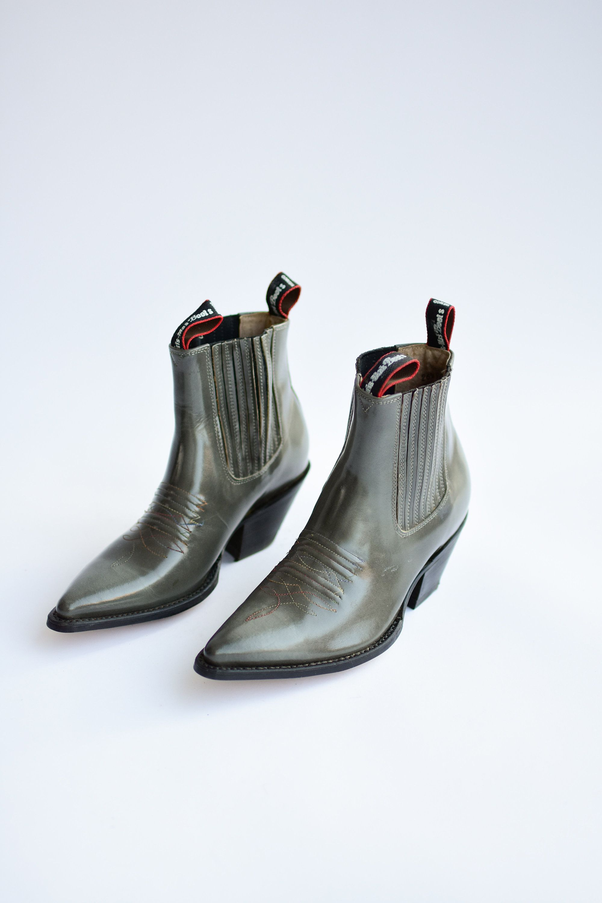 Deadstock Western features in cuban a Grey Boot heel BxerWdoC