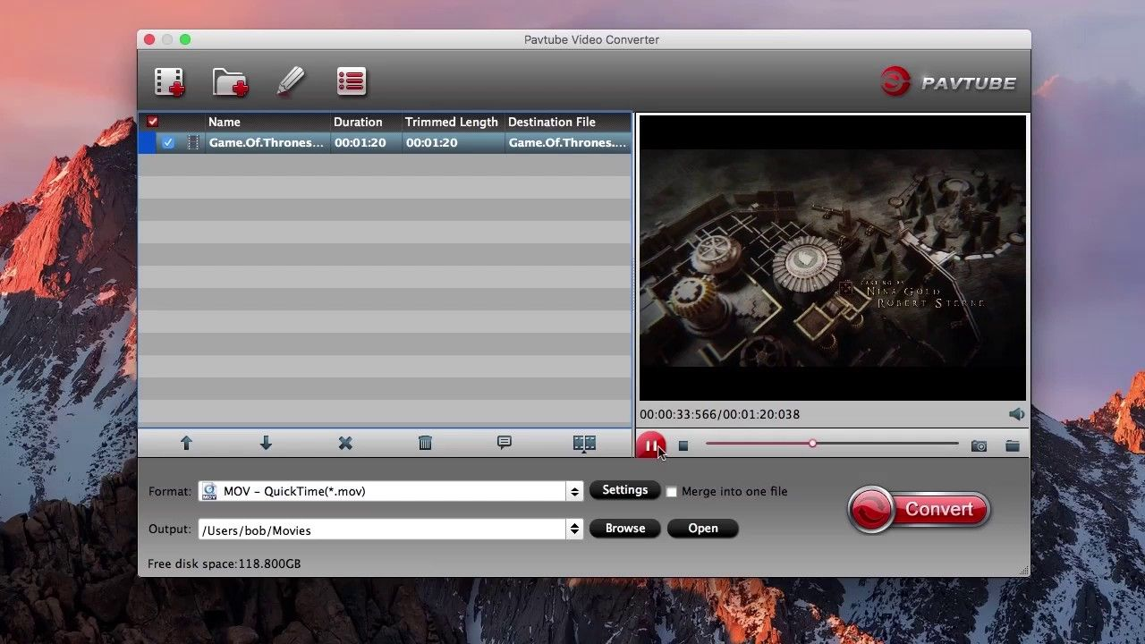 How to convert mkv for playing on quicktime player mac