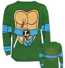 46beff5c98e Teenage Mutant Ninja Turtles Long Sleeve Costume Toddler Green T-Shirt   Eye  Mask (Toddler 4T