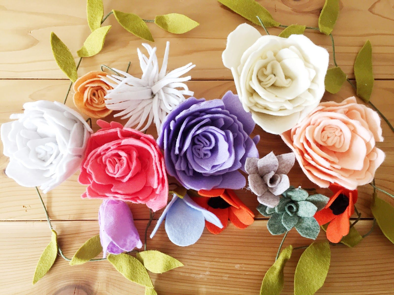 It's no secret, I love felt flowers. Long before I became the Mrs. Meyer's Home Maker, I was making felt blooms and if I'm being honest, they weren't very good. It wasn&#821…