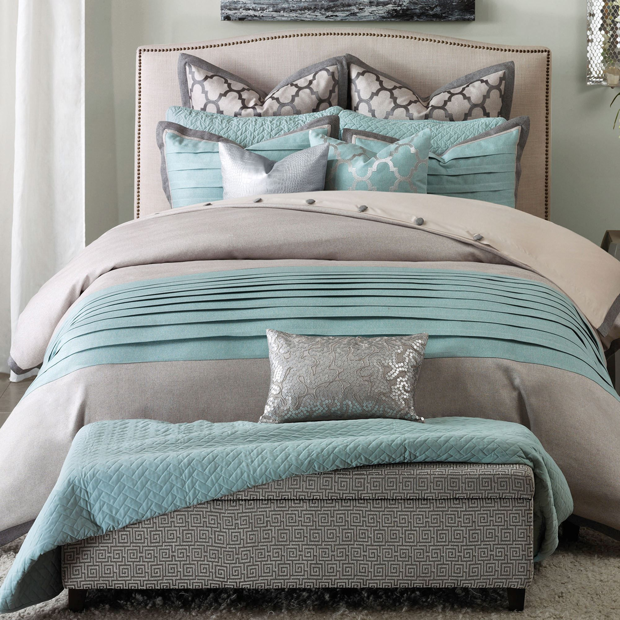 Sorina Modern 7 10 Pc Comforter Bed Set Comforter Sets Comfortable Bedroom Bedding Sets