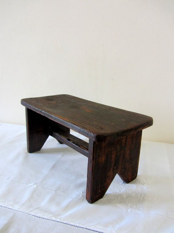 Vintage French Rustic Foot Stool / Garden Stool By PoitouBrocante, $70.73