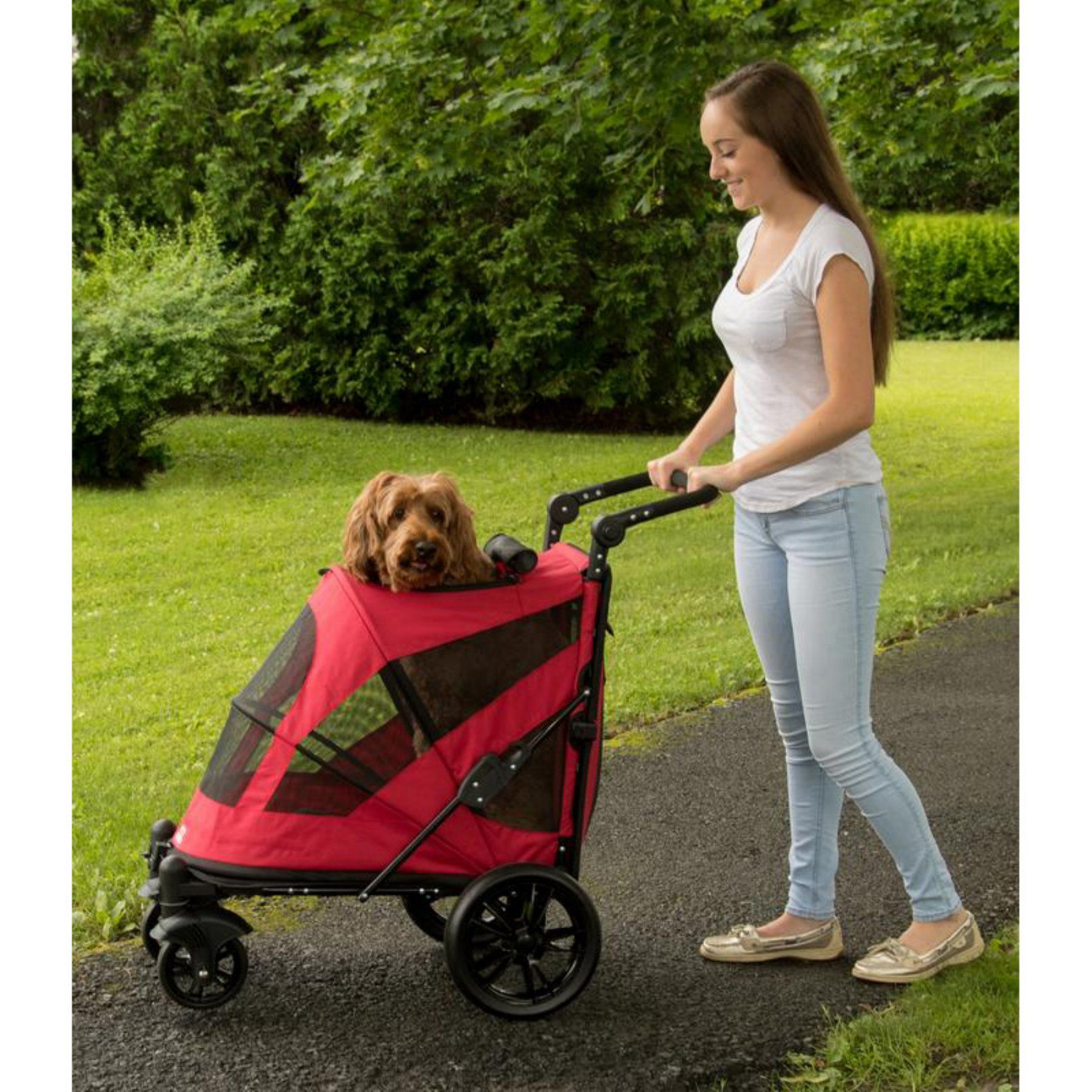 Pet Gear Excursion NoZip Pet Stroller PG8650NZCR Pet