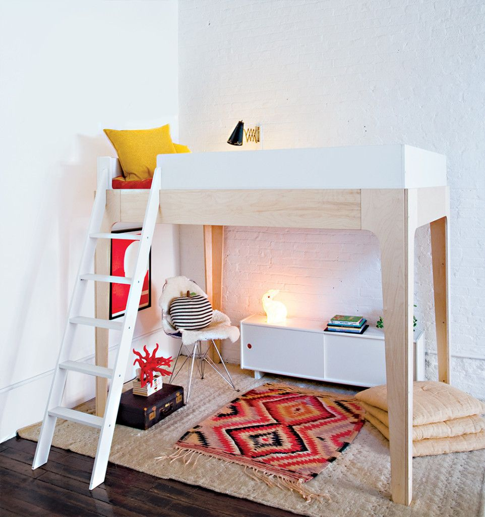 Low ceiling loft bed with desk  Oeuf is very happy to introduce The Perch Loft bed  places and