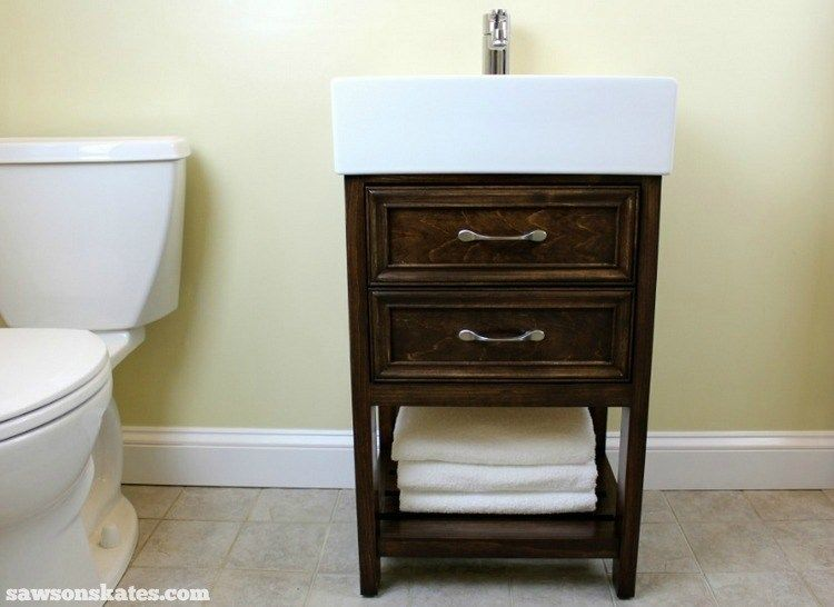 Check Out The Plans For This Small Diy Vanity It Features Book Matched Panels