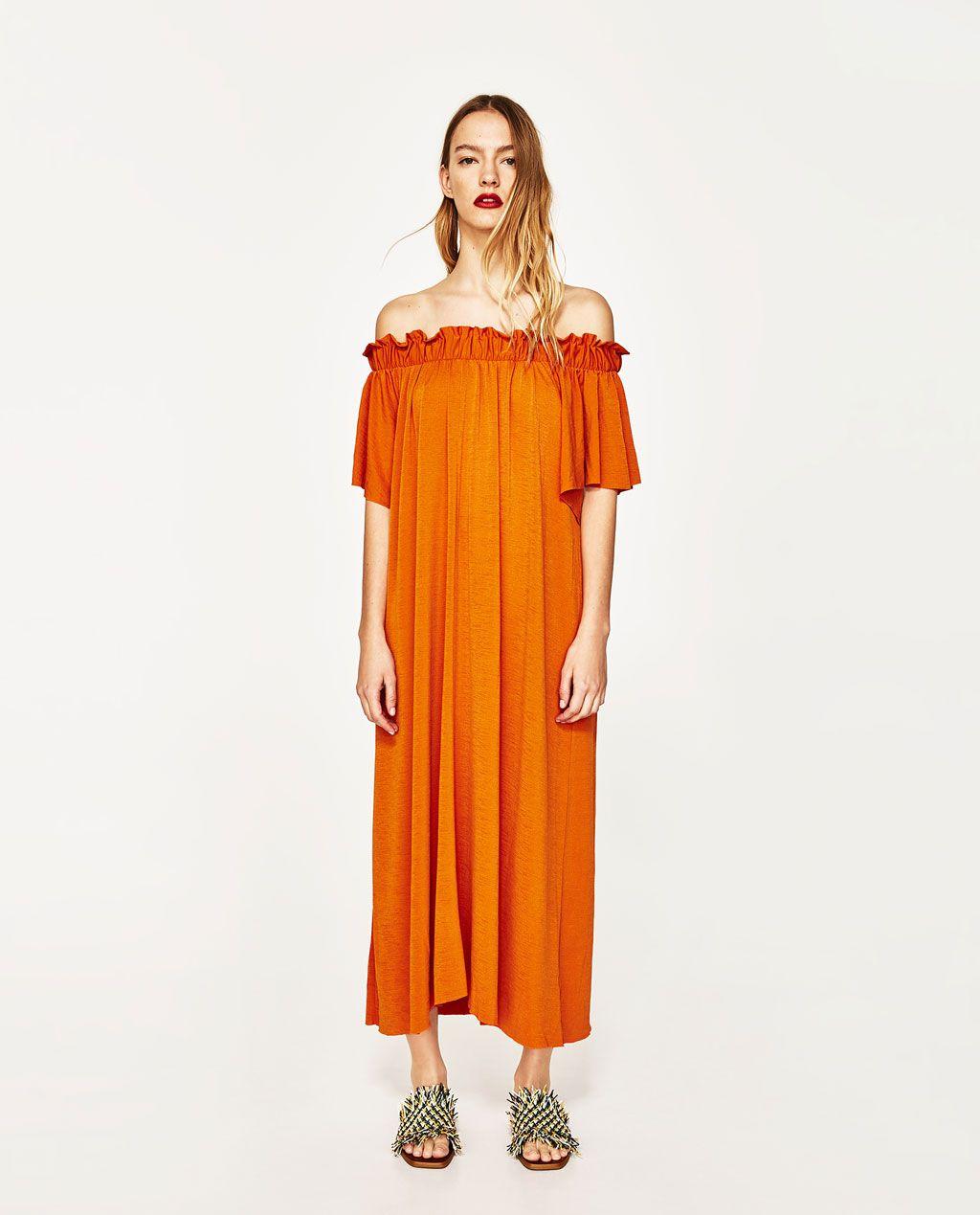 Zara kleid gelb lang