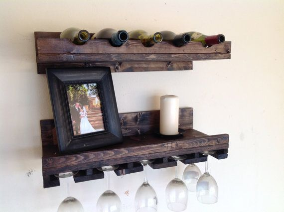 set of 2 floating wine rack free shipping by. Black Bedroom Furniture Sets. Home Design Ideas