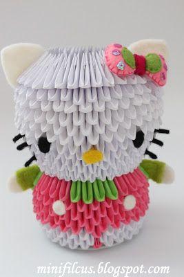 85 Gambar Origami Hello Kitty Paling Hist